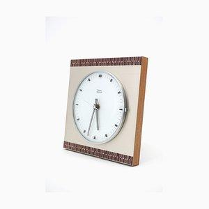 Horloge Murale en Bois et Métal de Diehl, 1960s
