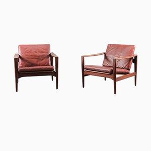 Mid-Century Sessel von Illum Wikkelsø für Niels Eilersen, 1960er, 2er Set