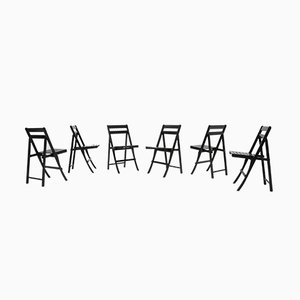 Morettina Folding Chairs by Ettore Moretti for Zanotta, 1970s, Set of 6
