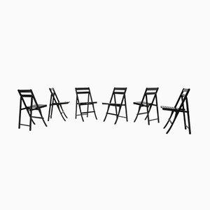 Sedie pieghevoli Morettina di Ettore Moretti per Zanotta, anni '70, set di 6