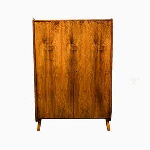Vintage Czech Walnut Veneer 2-Door Wardrobe, 1971