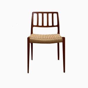 Mid-Century Danish Teak Model 83 Side Chair by Niels Otto Møller for J.L. Møllers, 1960s