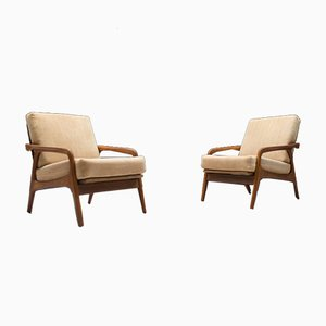 Mid-Century German Teak Armchairs from Casala, 1950s, Set of 2