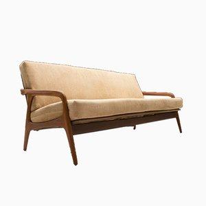 Deutsches Mid-Century Teak 3-Sitzer Sofa von Casala, 1950er