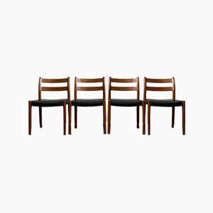 Mid-Century Danish Model 84 Dining Chairs by Niels Otto Møller for J.L. Møllers, 1960s, Set of 4