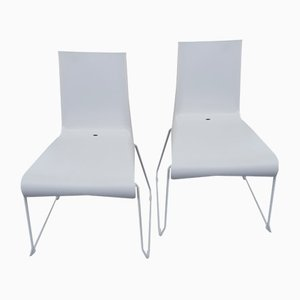Vintage Stackable Plastic Indoor and Outdoor Chairs by Raunkjaer for Skagerak, Set of 2