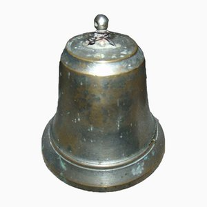 Antique Art Nouveau Bronze Bell