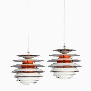 Lampes PH Vintage par Poul Henningsen pour Louis Poulsen, Danemark, 1962, Set de 2