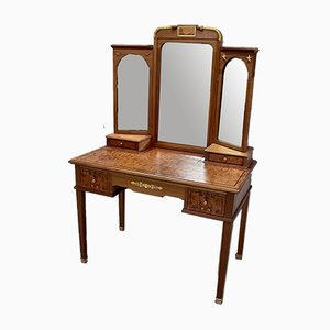 Vintage Mahogany and Thuja Bramble Hairdressing Table
