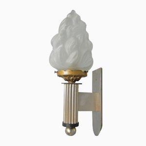 Art Deco Wandlampe mit Fackel, 1930er