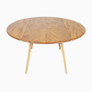 Round Drop-Leaf Dining Table by Lucian Ercolani for Ercol, 1960s