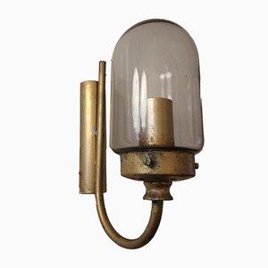 Wandlampen aus Rauchglas, Italien, 1950er, 4er Set