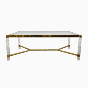 Brass and Methacrylate Dining Table, 1970s
