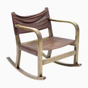 Sedia a dondolo Art Déco di Eskil Sundahl per Bodafors, anni '30