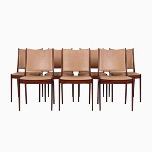 Chaises de Salon en Palissandre par Johannes Andersen pour Uldum Møbelfabrik, 1970s, Set de 7