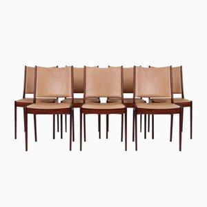 Palisander Esszimmerstühle von Johannes Andersen für Uldum Møbelfabrik, 1970er, 7er Set