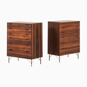 Rosewood Cabinets by Svend Langkilde for Langkilde Møble, Denmark, 1960s, Set of 2