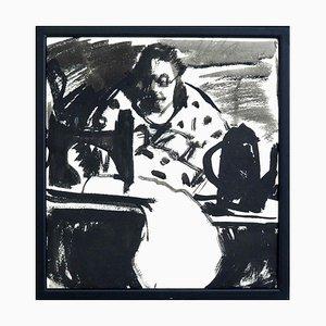 Antike Deutsche Expressionistische Malerei auf Papier, 1910er