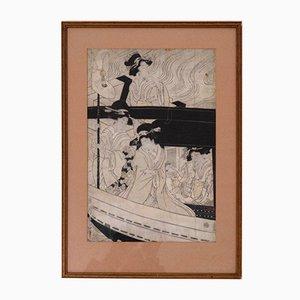 Woodcut 18th Century, Japon