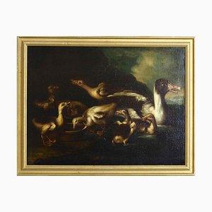 Italienische oder Niederländische Ölgemälde auf Altem Gemälde, 1700er