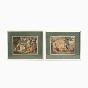 Lithographies 19ème Siècle des Iles Vierges, Set de 2