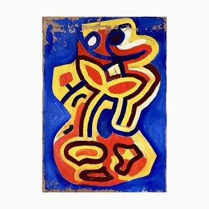 Kobra Gemälde Acryl auf Leinwand im Stil auf Karel Appe