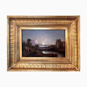 Landschaftsmalerei Öl auf Kobolde im Stil von Casper David Friedrich, 19. Jh