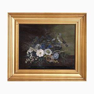 Petite Peinture Florale Attribuée à IL Jensen