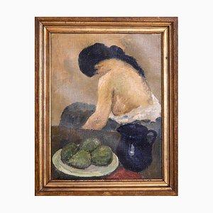 Modell Gemälde von Carl Fischer