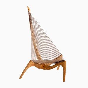Chaise Harp par Jørgen Høvelskov, Danemark, 1960s