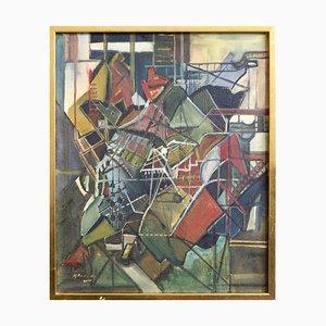 Peinture Cubiste Européenne Huile sur Toile