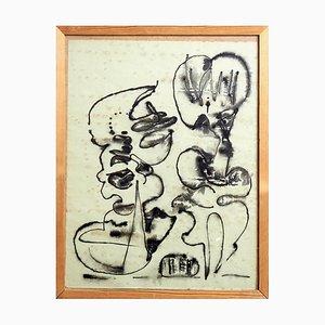 Tusch & Black Paint Zusammensetzung, Cobra, 1960er