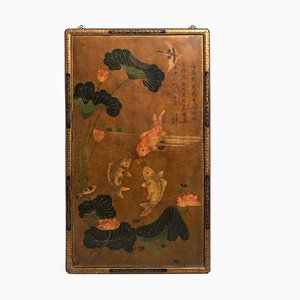 19th Century Chinese Lacquer Screen