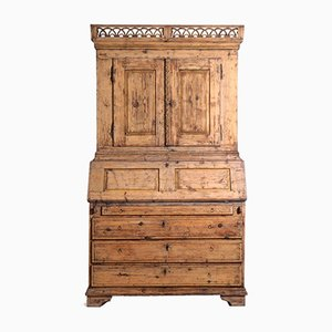 Gustavian Original Painted 2-Part Cabinet, 1790s