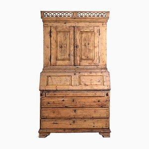 Zweiteiliger Gustavianischer Lackierter Schrank, 1790er