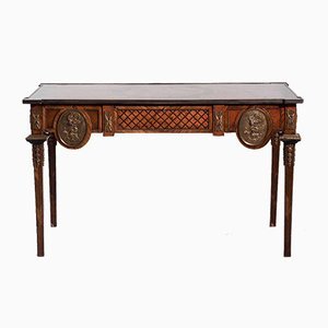 19th Century French Freestanding Desk or Console Table Mounted with Bronze Hardware and Drawers