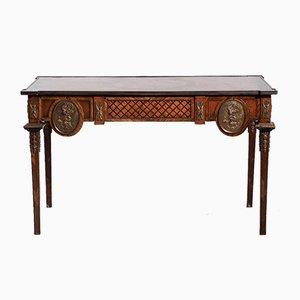 Französischer Freistehender Schreibtisch oder Konsolentisch mit Bronze Hardware und Schubladen