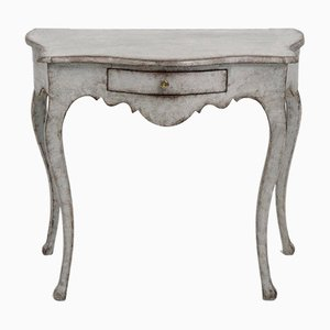 Swedish Rococo Console Table with One Drawer
