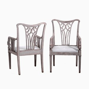 Antique Side & Armchairs, 1900s, Set of 10