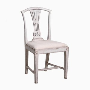 19th Century Gustavian Chairs with Carvings, Set of 8