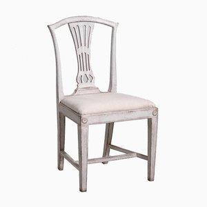 Gustavianische Stühle mit Schnitzereien, 19. Jh., 8er Set