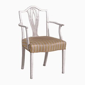 Gustavian Style Carved Armchair