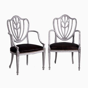 European Armchairs with Original Horsehair Upholstery, Set of 2