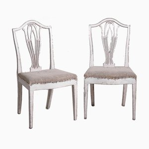 Gustavian Armchairs, Set of 14