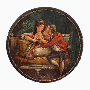 French Lacquer Box with Original Paint Attributed to Niklas Lafrensen, 1780s