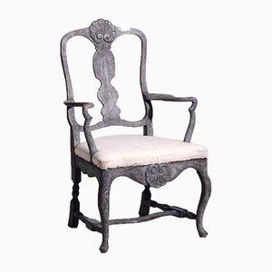 19th Century Scandinavian Carved Armchair