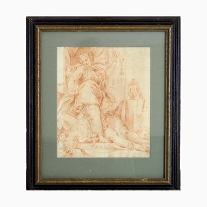 Disegno di gesso rosso, Italia, XVII secolo