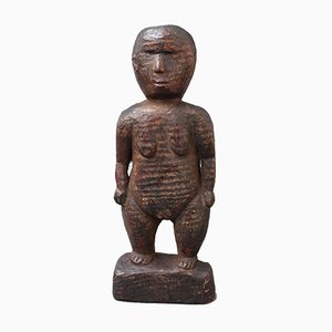 Wooden Carving of Female Figure from Sumba Island, Indonesia, 1960s