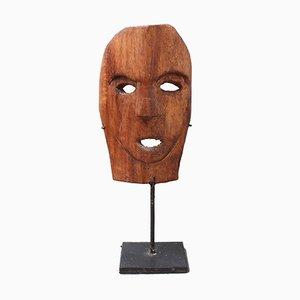 Traditionelle Maske aus geschnitztem Holz von Timor Island, Indonesien, 1970er