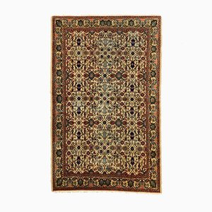 Turkish Distressed Red and Beige Wool Tribal Rug, 1940s